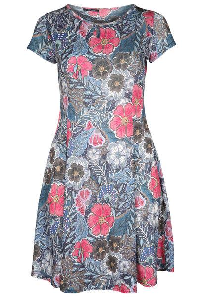Robe imprimé fleuri - Fushia