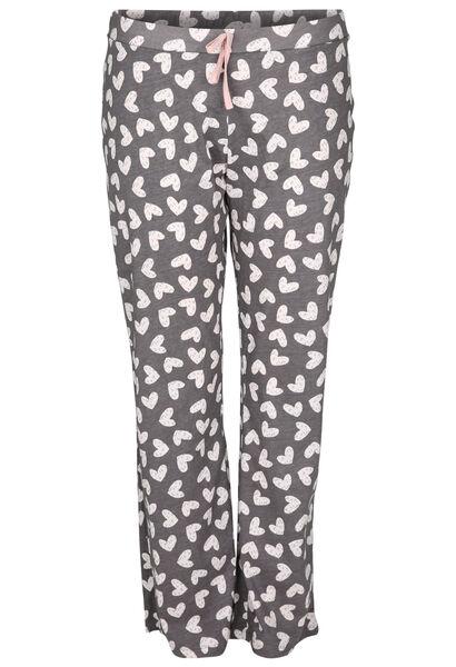 Pantalon de pyjama imprimé de coeurs - Gris