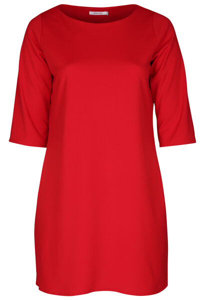 Robe en crêpe unie - Rouge