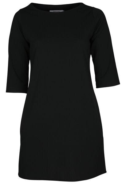 Robe en crêpe unie - Noir
