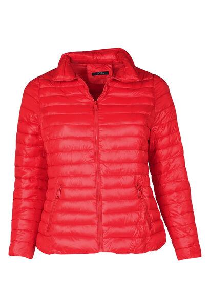 doudoune capuche intégrée - Rouge