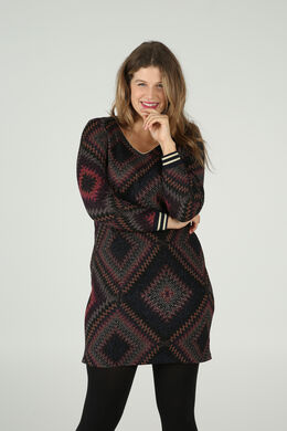 Robe imprimée losanges, multicolor