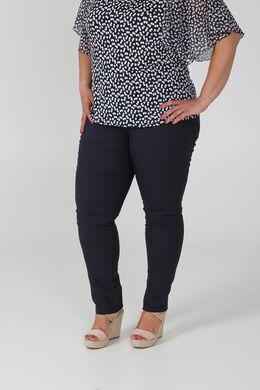 Pantalon matière stretch, Marine