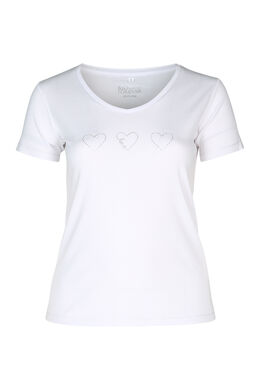 T-shirt coton bio, Blanc