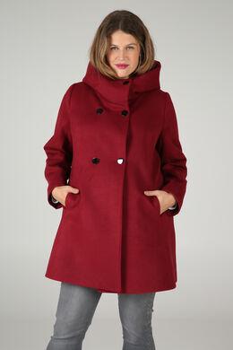 Manteau en lainage, Bordeaux