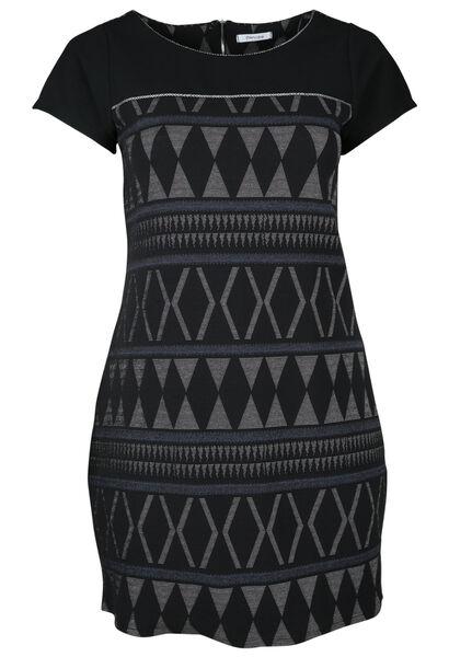 Robe jacquard - Noir