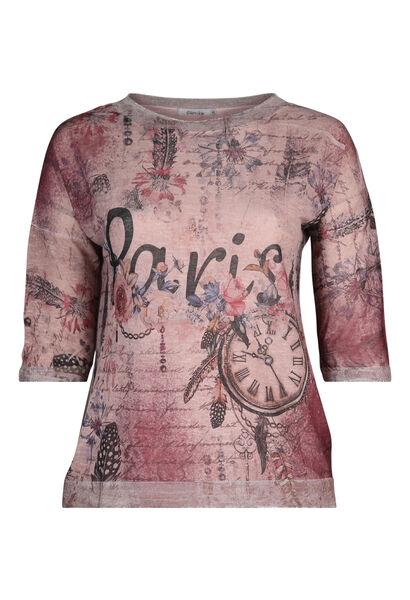 "T-shirt ""Paris"" - Vieux rose"