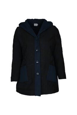 Manteau effet lainage, Marine