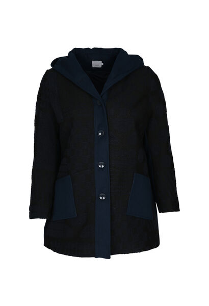 Manteau effet lainage - Marine