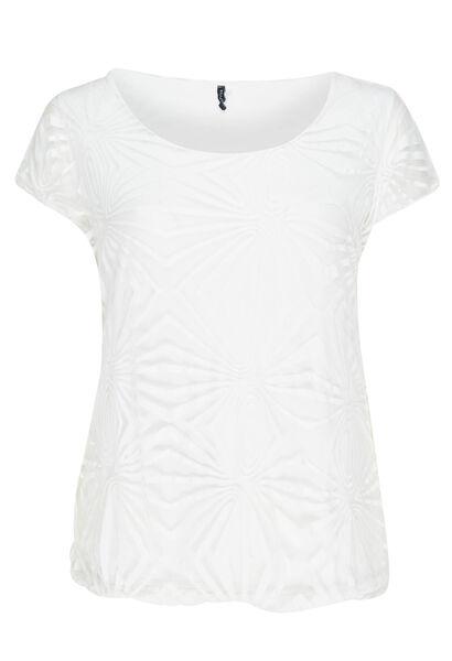 T-shirt en voile doublé - Blanc