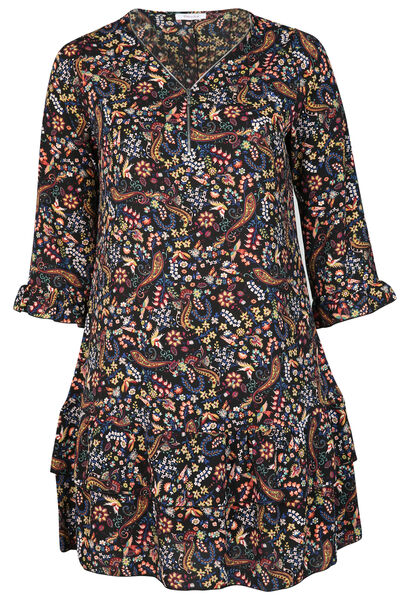 Robe tunique imprimé fleuri - multicolor