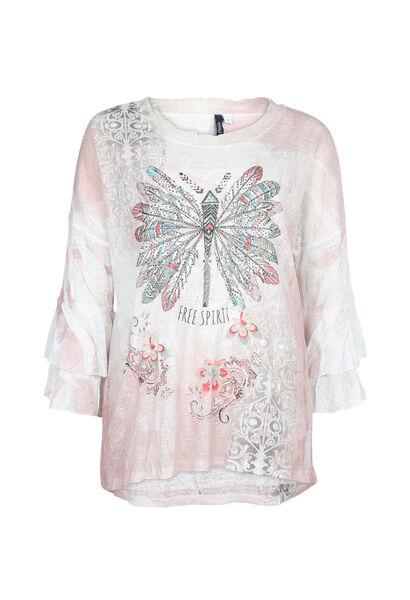 T-shirt imprimé fantaisie - Blush