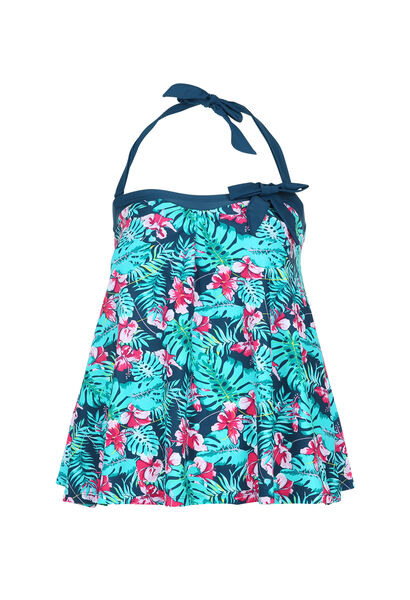 Haut de tankini imprimé tropical - multicolor