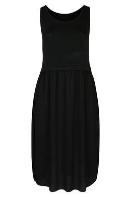 Longue robe bi-matière, Noir