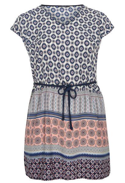 Robe tunique ceinturée - Corail