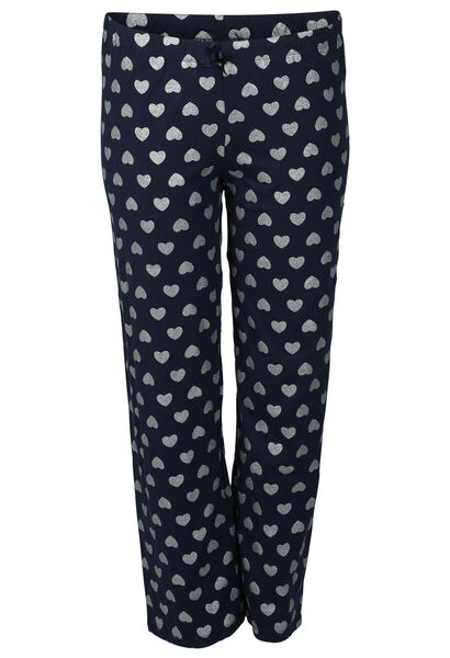 Pantalon de pyjama imprimé cœurs - Marine