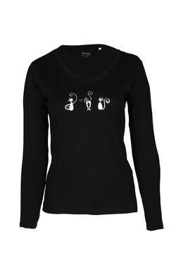 T-shirt 3 petits chats, Noir