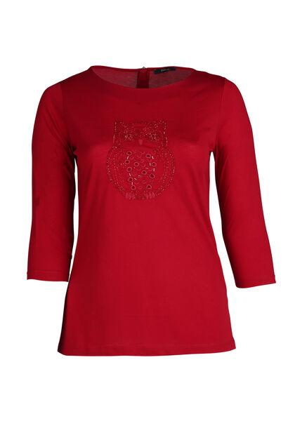 T-shirt hibou - Bordeaux