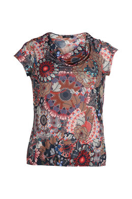 T-shirt imprimé mandala, multicolor