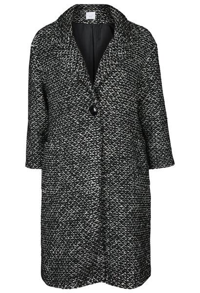 Long manteau en laine - Noir