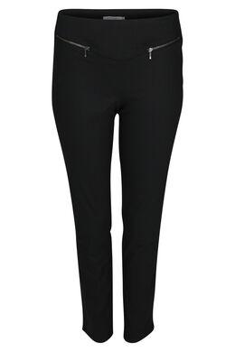 Pantalon bengaline zip, Noir
