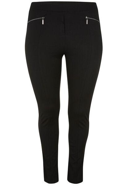 Pantalon esprit jegging avec zips - Noir