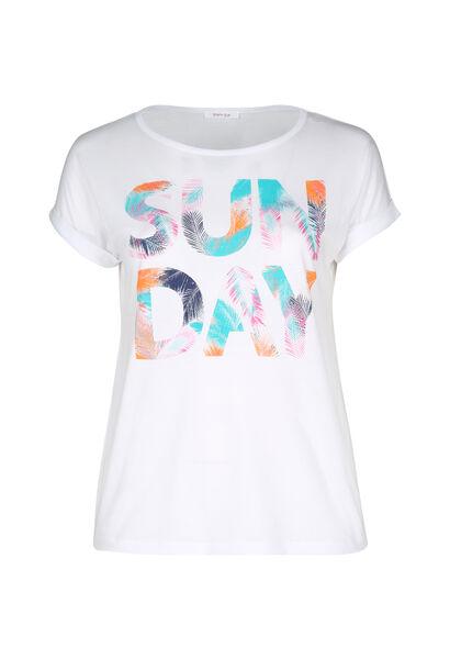"""T-shirt """"Sun day"""" - Blanc"""