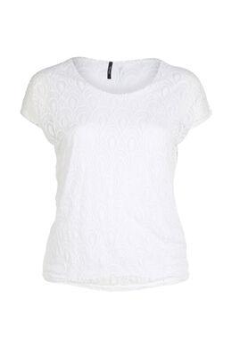 Blouse imprimé paillettes, Blanc