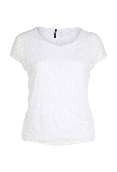 Blouse imprimé paillettes - Blanc
