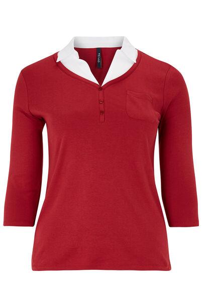 T-shirt en coton 2 en 1 - Bordeaux