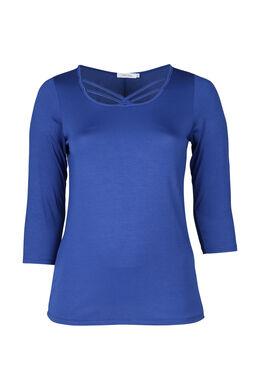 T-shirt liens croisés devant, Bleu Bic