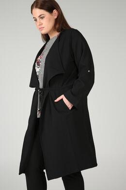 Longue veste à pans, Noir
