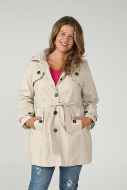 Trench capuche amovible, Beige