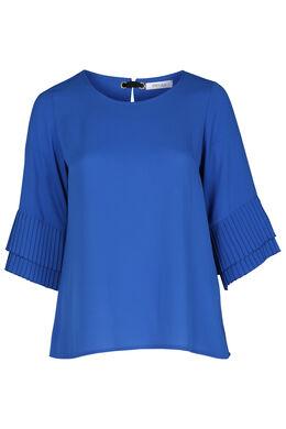 Blouse en voile plissée, Bleu Bic