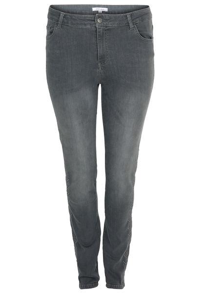 Jeans brodé - Gris