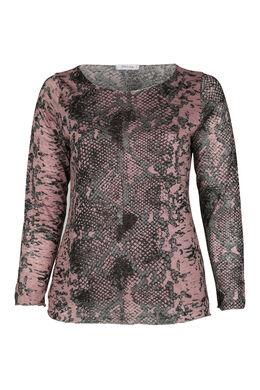 T-shirt imprimé peau de serpent, Vieux rose