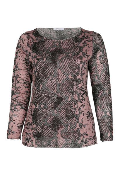 T-shirt imprimé peau de serpent - Vieux rose