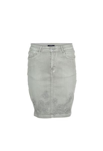 Jupe droite 5 poches - Kaki-clair