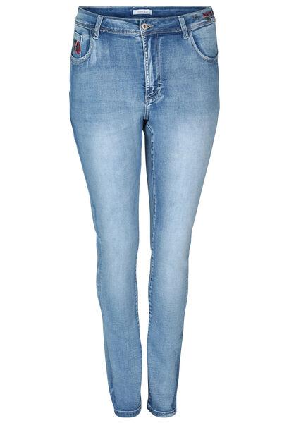 Jeans slim avec broderie - Denim
