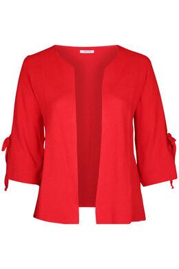 Cardigan manches larges avec noeud, Rouge