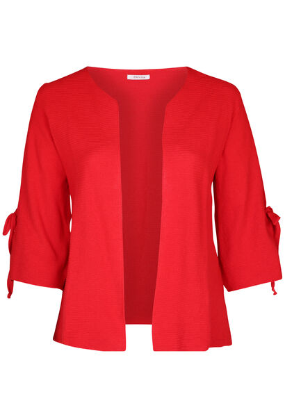 Cardigan manches larges avec noeud - Rouge