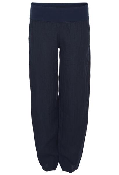 Pantalon long en lin - Marine