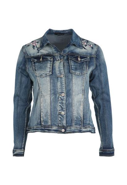 Veste en jeans brodée - Denim