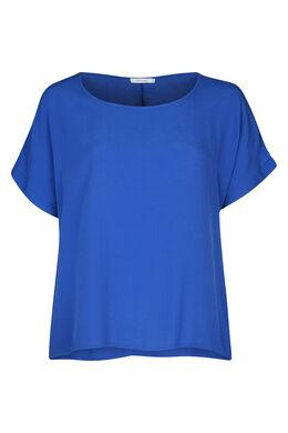 Blouse ample à manches courtes, Bleu Bic
