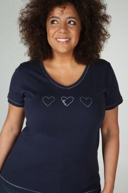 T-shirt coton bio, Marine