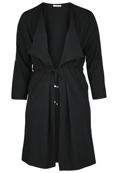 Longue veste à pans - Noir