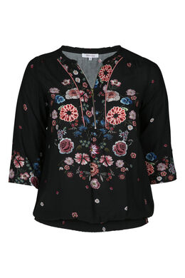 Chemise fleurie, Noir