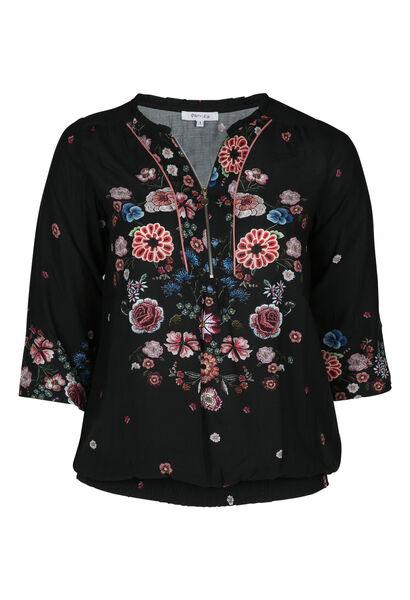 Chemise fleurie - Noir