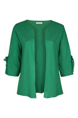 Cardigan manches larges avec noeud, Vert