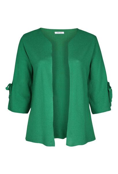 Cardigan manches larges avec noeud - Vert